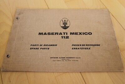 Ersatzteilkatalog spare parts catalog Maserati Mexico 112