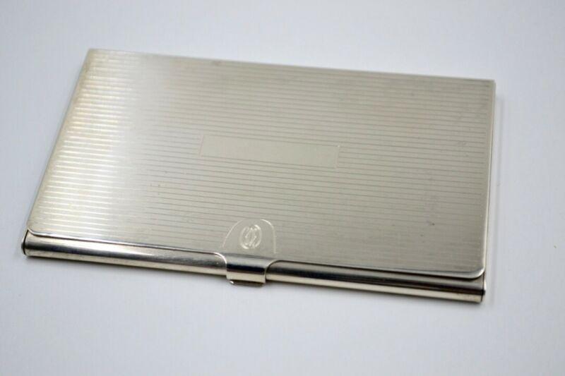 Vintage Cartier Sterling Silver 925 Business Card Case 65g