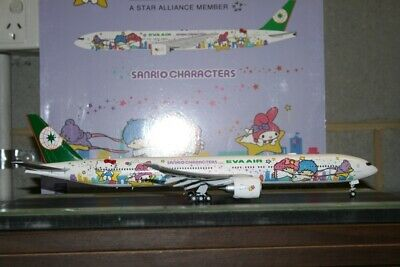 JC Wings 1:200 EVA Air Boeing 777-300ER B-16722 Hello Kitty XX2060A Flaps Down
