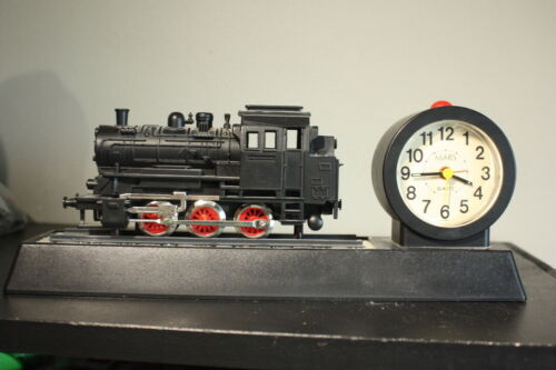 Vintage Battery Operated MARS Train Engine Alarm Clock Sounds & Motion