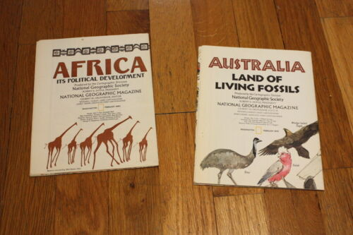 National Geographic Map Lot - AFRICA and AUSTRALIA - Vintage