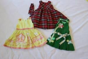 3x Girl Dresses. Size 0.