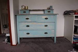 Antique baby blue dresser with handkerchief drawers Cherrybrook Hornsby Area Preview