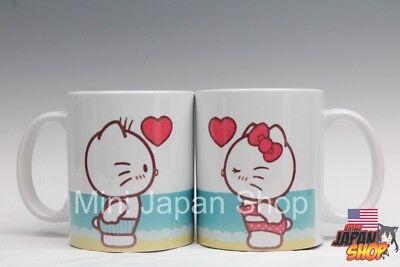 Hello Kitty Valentine ( Hello Kitty & Dear Daniel  beach valentine 2018  11 oz cup mug cute US)