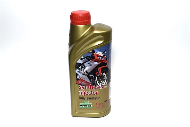 Rock Oil Synthesis 2 Injector & Pre-Mix 2 Stroke 2T Oil Fully Synthetic 1 Litre