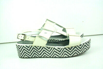 JEANNOT White Patent Leather Clear Platform Sandals by GAJA BARDELLI Size 6.5 7