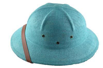 Mm Sommer 100% Stroh Tropenhelm Postbote Mütze Blaugrün