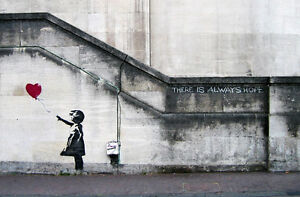 Banksy - Graffiti Balloon Girl 24