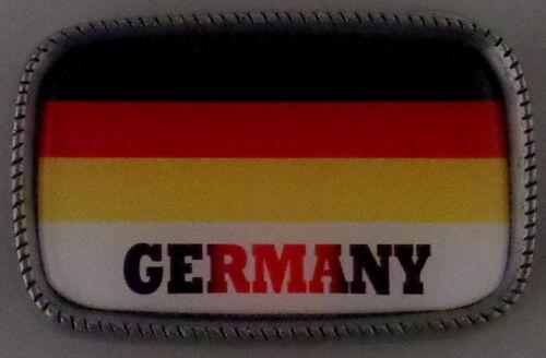 GERMANY FLAG Antique Silver Belt Buckle USA MADE German/Deutsch