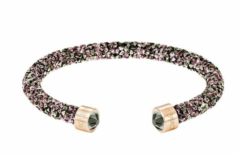NIB $69 Swarovski Crystaldust Cuff Bracelet Single Brown Size Medium #5348098
