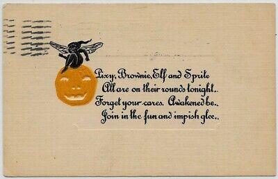 Halloween-1913-Embossed-JOL-Pixie-Elf-Brownie-Sprite se23
