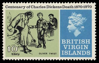 """VIRGIN ISLANDS 224 (SG258) - """"Oliver Twist"""" by Charles Dickens (pa64855)"""
