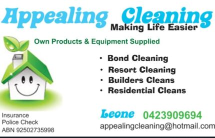 Bond Cleans -  Domestic Cleans  - Builders Cleans