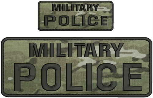 military police embroidery patch 4x10 and 2x5 hook on back multicam
