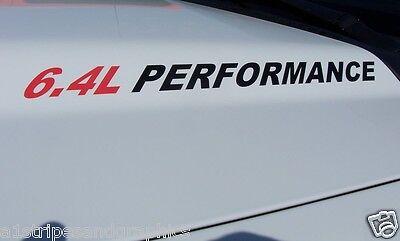 6.4L PERFORMANCE (pair) Hood vinyl sticker decals F250 F350 Power Stroke Decal