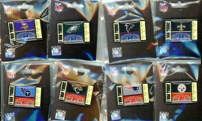 2017 2018 Nfl Playoff  I Was There   Ticket Pin Choice 8 Pins Super Bowl 52 Lii