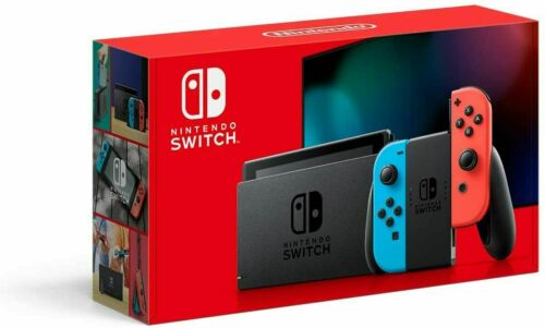 Nintendo Switch w/ Neon Blue & Red Joy‑Con Grey 32GB (Newest Model) 2DAY SHIP🚚