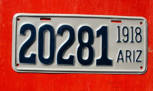 1918 Arizona NICE Restored 20281 License Plate