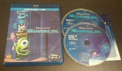 Monsters, Inc. (Blu-Ray, 2-Disc Set) Disney Pixar Mike Sully comedy film movie