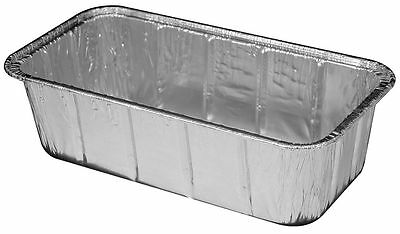 2 Lb. Aluminum Foil Loaf Pan 100 Pack - Disposable Breadbaking Tin Containers