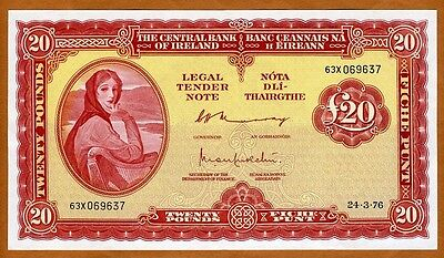 Ireland Republic, 20 pounds, 1976, P-67 (67c), XF+