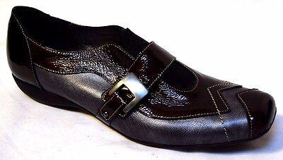 UTV Leather shoes sz 5 / 35 Patent Flats very chic quality French comfy BNIB!