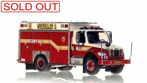 FDNY Squad 1 2nd Piece Freightliner M2 1/50 Fire Replicas FR052-1 New Sold Out