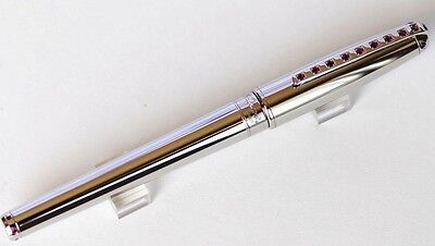 "ST DUPONT ""SKY AND FIRE"" RUBIES PLATINUM FOUNTAIN PEN"
