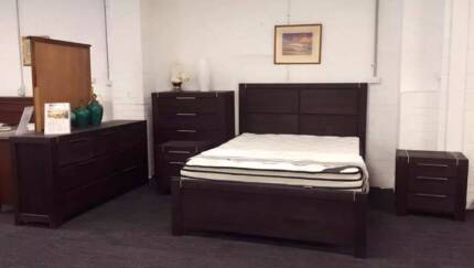 【30% OFF】Ralph Solid Acacia Queen/King Bedroom suite from