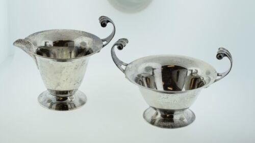 Antique Lebkuecher & Co Sterling Silver Cream & Sugar Pattern 151