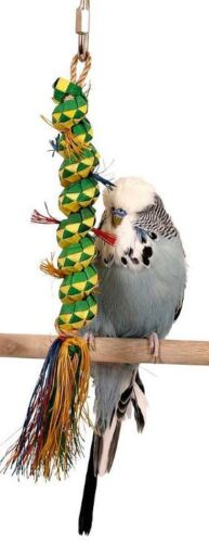 03141 Small Caterpillar Bird Toy Cage Toys Cages Foraging Chew Shredder Parakeet