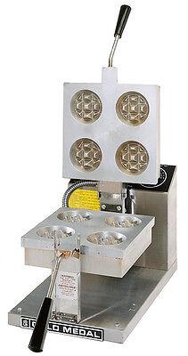 Gold Medal 5025 4 Round Belgian Waffle Baker Machine Maker