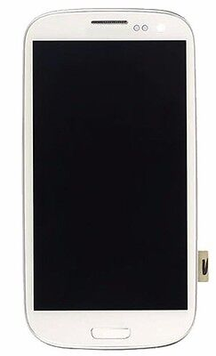 White Lcd Samsung S3 Digitizer Screen Replacement With Fr...