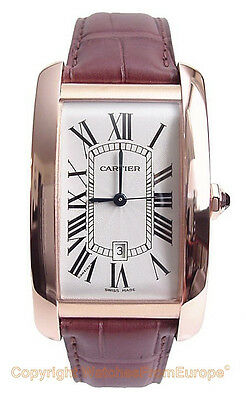 CARTIER Tank Americaine Large Automatic 18kt RG W2609156 Box/Papers/Warranty