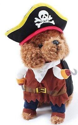 Haustier Hund Katze Pirat Halloween Party Kostüm Kleid Outfit Kleidung ()