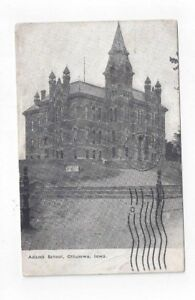 IA Ottumwa Iowa antique 1909 post card Adams School
