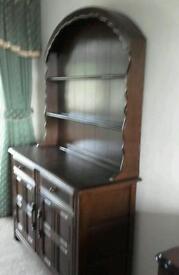 Lovely Solid Dark Oak Wood Priory Dutch Dresser