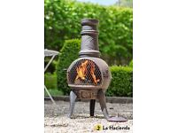 Grape Medium Cast Iron Chimenea - La Hacienda