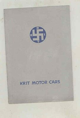 1913 Krit Model KT KR KD Automobile Prestige Brochure wv0501