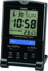 Casio Quartz-Digital Snooze Thermometer Alarm Travel Clock PQ15-1K(P)