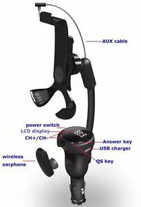 Smartphone Car Kit Holder with FM Transmitter and Earpiece New Farm Brisbane North East Preview