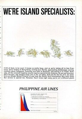1966 Pal Philippine Air Lines Island Service Singapore Taiwan Hong Kong Print Ad