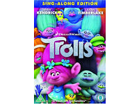 Trolls dvd (sing-a-long edition) NEW sealed. plus other dvds