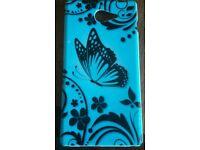Sony Xperia M2 Light Blue Butterfly Gel Case