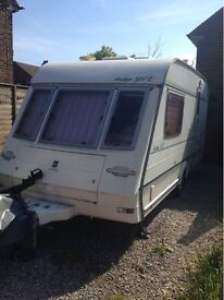 2 Berth caravan with motor mover and accessories reduced for quick sale