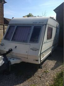 REDUCED FOR QUICK SALE Caravan including motor mover and awning