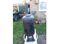 Gas Bottle Woodburner / Log Burner / Chiminea /Patio heater/Workshop heater