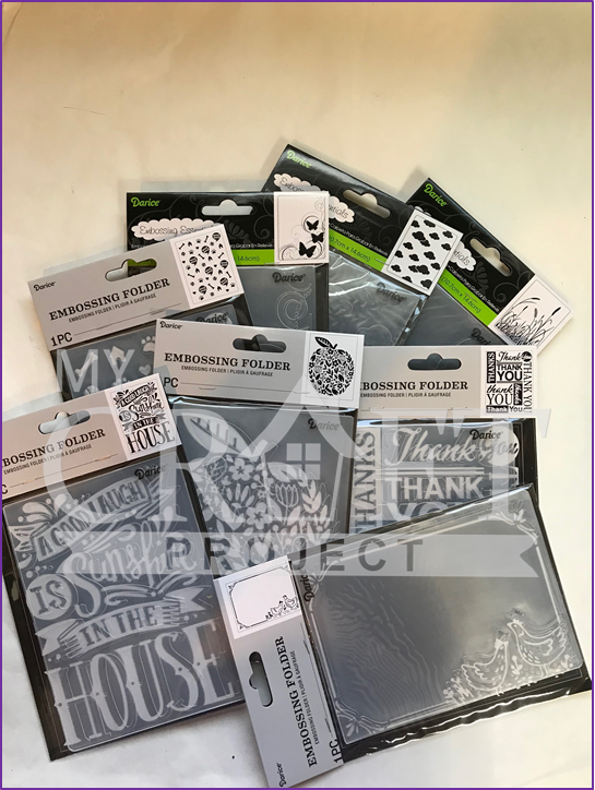 CLEARANCED & NEW 2019 Designs-Darice Embossing Folders - ALL