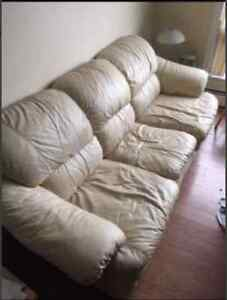 Genuine Leather Couch