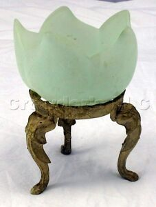 Glass-Tulip-Flower-Tea-Light-Candle-Holder-with-Stand-6-Tall-Made-in-Italy